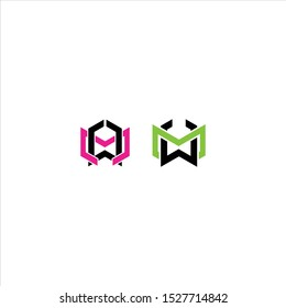 Creative letter MW logo vector illustration template, MW Logo icon