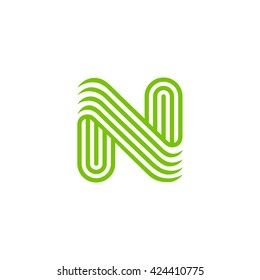 Creative Letter N Logo design vector template Linear. Type Character Symbol Logotype.