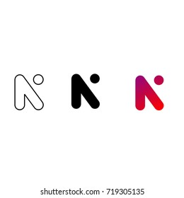 Creative Letter N Logo design vector template