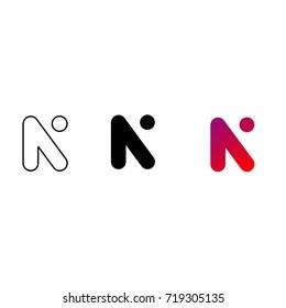 Creative Letter N Logo design vector template