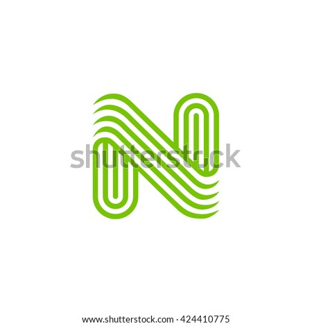 02a904f24 Creative Letter N Logo design vector template Linear. Type Character Symbol  Logotype.