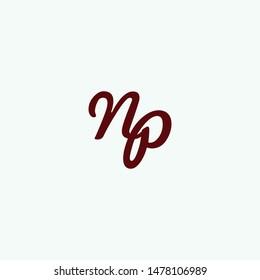 creative letter np logo design idea