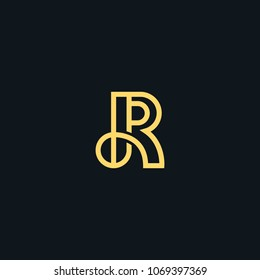 Creative letter R line vector designs