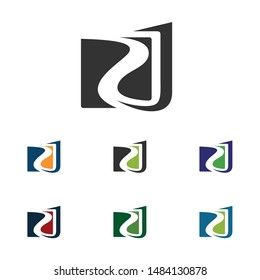 Creative letter RJ or RSJ Logo Design