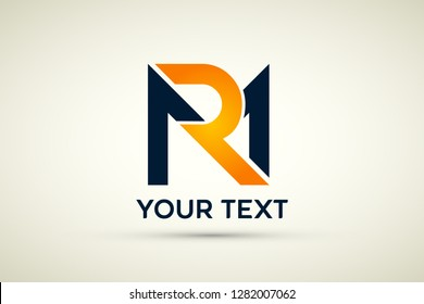Creative Letter Rm m r monogram Logo Design, Modern, Bold And Professional.