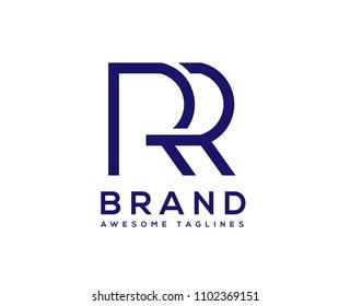 creative Letter RR logo design elements.