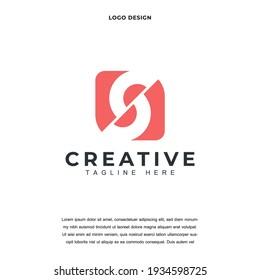 Creative Letter S icon logo design vector illustration. Alphabet letter SS logo design color editable