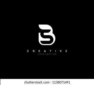 Creative Letter S inside B Logo