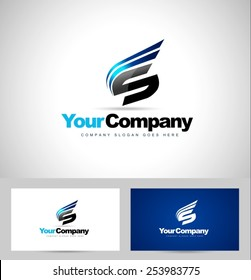 Creative Letter S Logo Design. Creative Vector Design with abstract letter s.