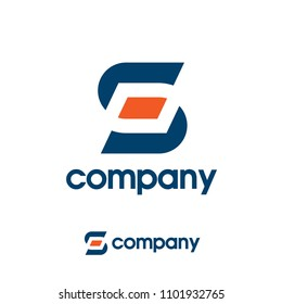 creative letter sp letter logo concept