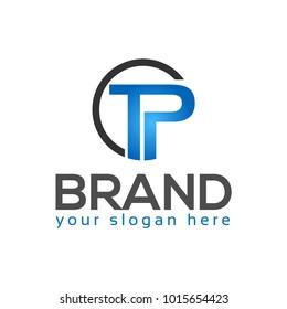 Creative Letter TP for technology logo. TP letter logo.