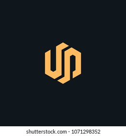 Creative letter U P vector designs