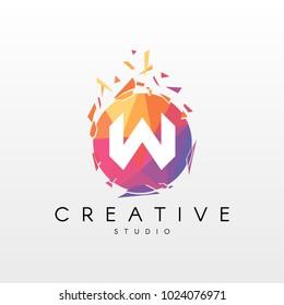 Creative Letter W Logo Design.