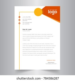 creative letterhead design with Orange & yellow design