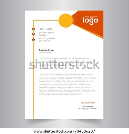 creative letterhead design orange yellow design のベクター画像素材