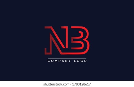 Creative Letters NB or BN Logo Design Vector Template. Initial Letters NB Logo Design