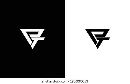 Creative letters PT Logo Design Vector Template. Initial Letters PT Logo