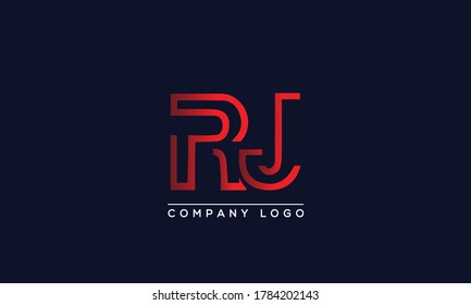 Creative letters RJ Logo Design Vector Template. Initial Letters RJ Logo Design