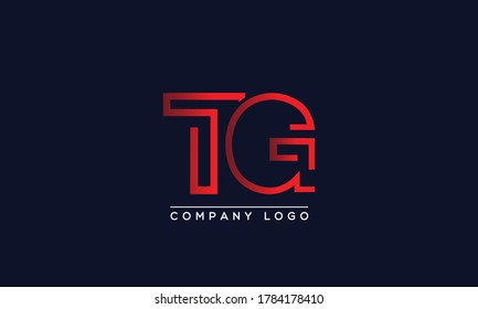 Creative letters TG Logo Design Vector Template. Initial Letters TG Logo Design