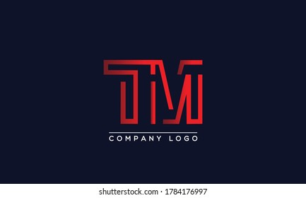 Creative letters TM Logo Design Vector Template. Initial Letters TM Logo Design