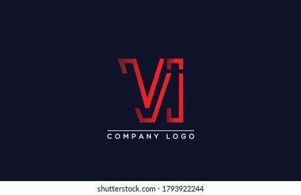 Creative Letters VI Logo Design Vector Template. Initial Letters VI Logo Design