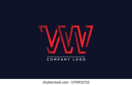Creative Letters VW, WV Logo Design Vector Template. Initial Letters VW Logo Design