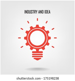 Creative light bulb concept background design for poster flyer cover brochure ,business idea ,abstract background.vector illustration