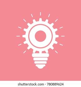 Creative light bulb concept background design icon