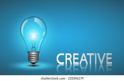 Creative light bulb Idea concept.vector