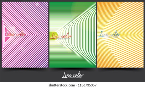 Creative line abstract background