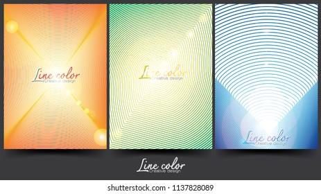 Creative line color design