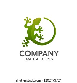 creative lizard vector illustration logo template icon design