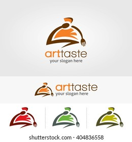 Creative logo art taste restaurant template design.  Vector illustration with flat style design