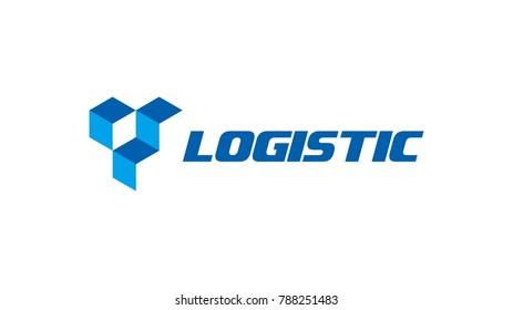 Creative logo box logistics abstract vector icon