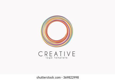 Creative logo. Colorful logo. geometric icon.