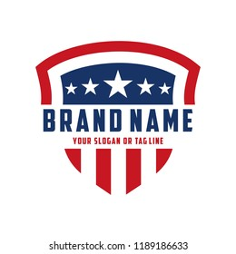 creative logo design american shield vector template