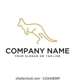 creative logo design concept vector kangaroo
