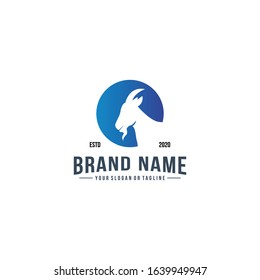 Creative Logo design goat head vector template