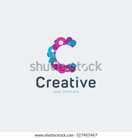 creative logo design letter c logo のベクター画像素材 ロイヤリティ