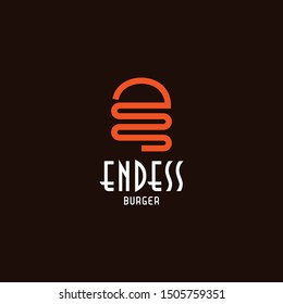Creative logo design of letter E and hamburger - EPS10 - Vector.