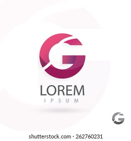 Creative logo design, letter G. Colorful vector icon. Trendy business elements.