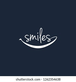 Creative logo design smiles dental vector