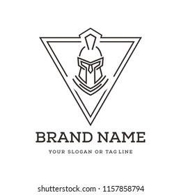 creative logo design spartans , warrior, knight vector template