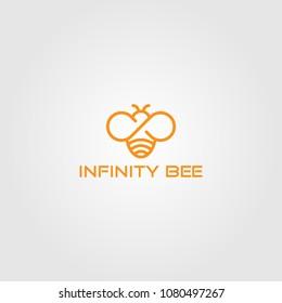 Creative logo design and Unique icon of Infinity Bee.