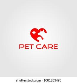 Creative logo design and Unique icon of Pets.