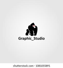 Creative logo design and Unique mascot of Gorilla.