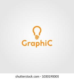 Creative logo design and Unique symbol with bulb.