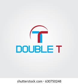 Creative logo design and Unique symbol with double t.