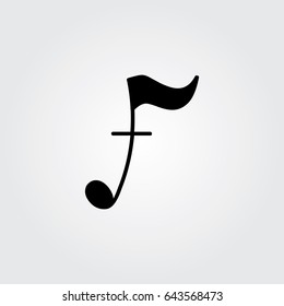 Creative logo design and Unique symbol with music note f.