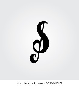 Creative logo design and Unique symbol with music note s.